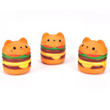 Cat Head Burger Slow Rising Squeeze Reliever Healing Toy Desk Kawaii RR