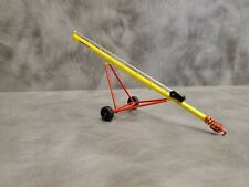 1//64 ertl custom farm toy 52/' red silver grain auger rubber tires All plastic