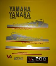 Yamaha 200 hp OX66 Saltwater Series II Outboard Decals FREE SHIPPING