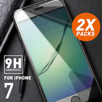 2 X New Premium Tempered Glass Screen Protector Film for Apple iPhone 7 8