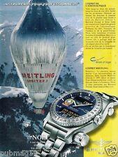 Publicité advertising 2001 La Montre Breitling Emergency