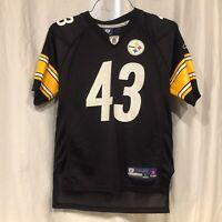 Pittsburgh Steelers #43 Polamalu Youth Large Jersey 14-16 Reebok Onfield
