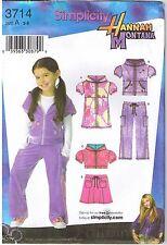 Girls Short Sleeve Mini Dress Hood Top Pants Skirt Sewing Pattern 3 4 5 6 7 8
