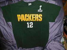 Green Bay Packers ~ T-Shirt ~ Superbowl XLV ~ Aaron Rodgers ~ Size M