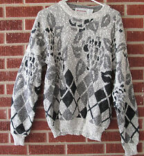 Vintage 80s 90s Sweater McGregor Size Large L Crewneck Geometric Abstract