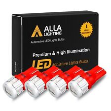 Alla Lighting 4pcs 194 168 LED Tail Light Bulb Lamp /Center High Mount Stop Red