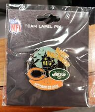 New York Jets VS Chicago Bears 10/28/18  NFL GAME DAY PIN  Free Shipping