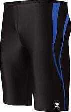 TYR Alliance Splice Jammer Swimming Shorts Black / Blue Swim Trunks Size XL 36