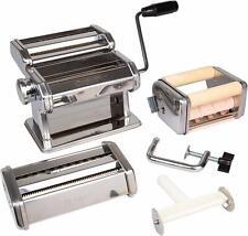 Pasta Maker Deluxe Set- Machine w Attachments for 5 Authentic Pastas- Spaghetti,