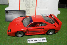 FERRARI F40 d 1987 rouge 1/24 FRANKLIN MINT B11SG44 voiture miniature collection