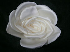KLEINFELD WEDDING FLOWER STARK WHITE SATIN PIN DECORATION GOWN HAIR ACCESSORY