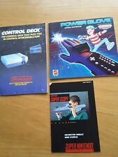 nintendo manuals nes control deck, power glove,  super scope