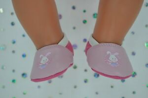 """Dolls Shoes For 17"""" Baby Born CUTE PINK/HOT PINK SHOES"""