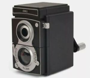 kikkerland Vintage Camera Shaped Plastic Pencil Sharpener, Black  SC12 (AB2-2)