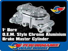 "CHROME BRAKE MASTER CYLINDER 1"" BORE O.E. STYLE, GM, CHEV, HOLDEN"