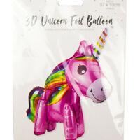 GIANT 57cm X 53cm 3D Unicorn Foil Birthday Party Girl Decoration Balloon Gift