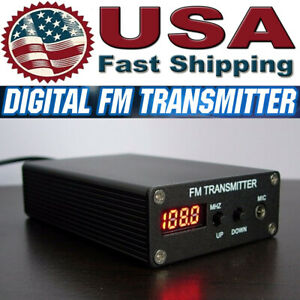 Black 5W Mini Stereo FM Transmitter Radio Station FM Transmitter 1mW 87-109MHZ