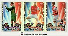 2011-12 Match Attax EPL Soccer Man Of Match Foil Card Team Set (3)-Arsenal