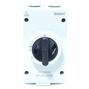ZJ BENY BYH-32 DC PV ARRAY Isolator Switch 1000V 4 POLE 32A IP66 - AS NEW
