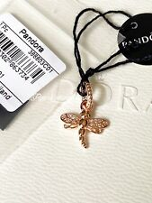 Authentic Pandora Rose Gold Sparkling Dragonfly  Charm / Pendant With Gift Box