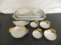 C4 Pottery Royal Worcester White & Gold 8A1A