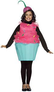 CHILD SWEET EAT CUPCAKE DESSERT FOOD SCHOOL PLAY COSTUME DRESS GC9152