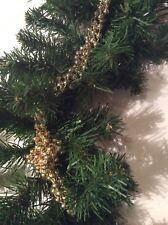 Weihnachtliche Tannengirlande mit Perlenkette Tannengrün, ca. 2,6 Meter