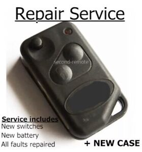 Repair refurbishment fix for Range Rover P38 remote flip key fob + new case