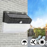 WALL LIGHTS SUPER BRIGHT SOLAR POWERED DOOR FENCE OUTDOOR GARDEN LIGHTING 206LED