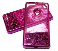 For ZTE SEQUOIA / BLADE Z MAX Z982 Hot Pink Glitter Star Liquid Water Skin Case
