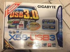 New! Motherboard For Gigabyte GA-X58-USB3 X58 Desktop Mainboard LGA 1366 DDR3