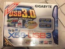 New! Motherboard For Gigabyte GA-X58-USB3 X58 Desktop Mainboard LGA 1366 DDR3
