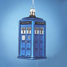 DOCTOR WHO GLASS TARDIS Ornament Kurt Adler! POLICE BOX #DW4111 - FREE SHIP