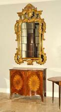 Incredible Gilded Carved Wood French Antique Glass Multi-sectional Mirror Wow!