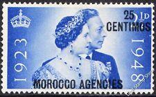 GB SG176 1948 Argento Matrimonio sovrastampa agenzie Marocco MONETA SPAGNOLA Gomma integra, non linguellato
