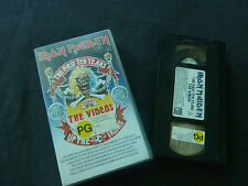 IRON MAIDEN THE FIRST TEN YEARS ULTRA RARE AUSTRALIAN PAL VHS VIDEO!