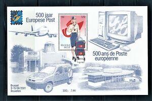 BELGIUM 2001 EUROPEAN POST 500th ANNIVERSARY SOUVENIR SHEET SCOTT 1854