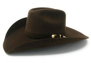 3X Brown Cattleman Wool Blend Felt Cowboy Hat by Texas Hat Co.