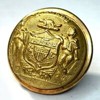 Civil War Wisconsin Militia officer 23mm coat button - Extra Quality