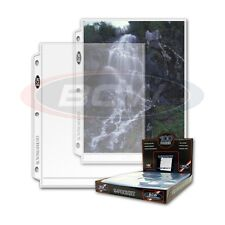 20 - 1 Pocket 8x10 Photo Page Sheet Protector BCW Prophoto - for 3 ring binders