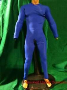 1/6 custom MALE spandex suit -BLUE..superhero...poisoned harley customs...