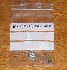 10  Kondensatoren  2,2 nF 250 V axial