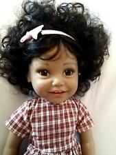 """Reborn American style doll girl _ Black _Ethnic_mixed race 18"""" 2 outfits"""