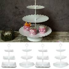 New Plastic Tier Cake Stand Afternoon Tea Wedding Plate Party Tableware Display