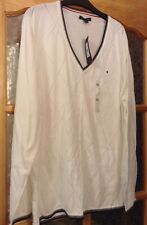 BNWT🌹TOMMY HILFIGER❤️Sz XXL 18-20-22 V-Neck Jumper Sweater White Top Brand New
