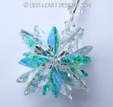 m/w Swarovski Clear and Rare AB Aqua SUPER STAR Suncatcher Lilli Heart Designs
