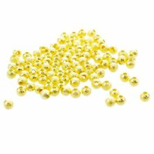 Gold Plated Stardust Sparkle Round Beads 4mm (100pcs) WS J5T7