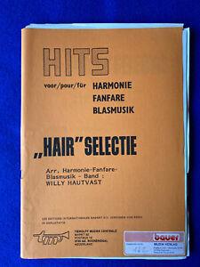 "Noten Blasorchester Concert Band ""HAIR"" SELECTIE Arr Willy Hautvast • Tierolff"