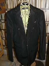 "Dsquared2 Embellished BEAD LAPEL SILK AND COTTON BLAZER.SZ50.""COWBOY"" COLLECTION"
