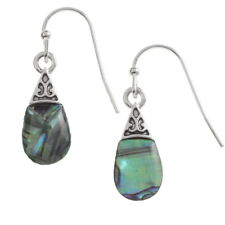 Tide Jewellery Inlaid Paua Shell PEAR Drop Hook Earrings